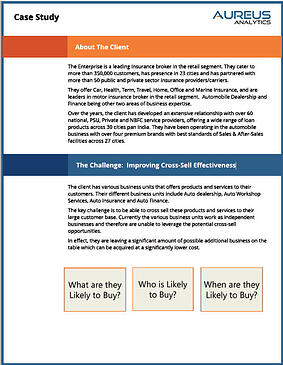 Making Cross-Sell Effective for a Leading Insurance Broker