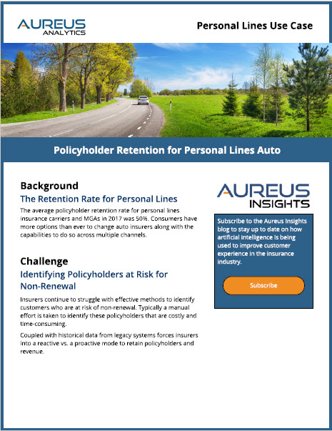 Policyholder Retention for Personal Lines Auto